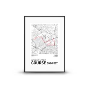 Affiche personnalisée votre course à pied