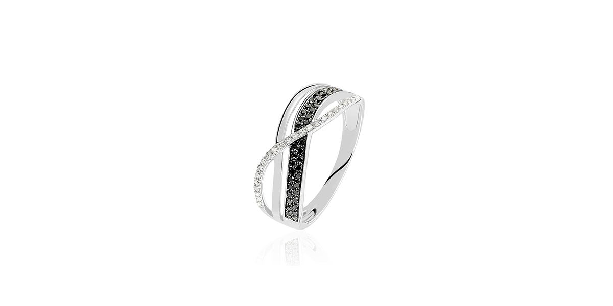 Bague Émilie or blanc diamant