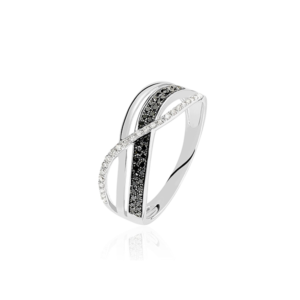 Bague Émilie or blanc diamant