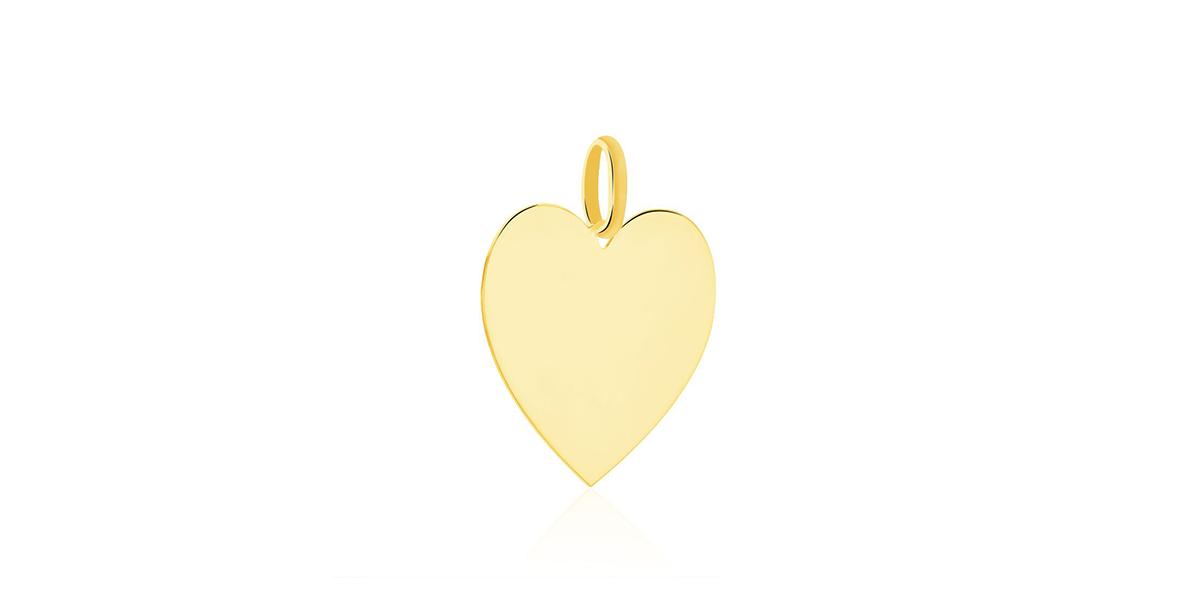 Pendentif Sirona cœur gravable or jaune