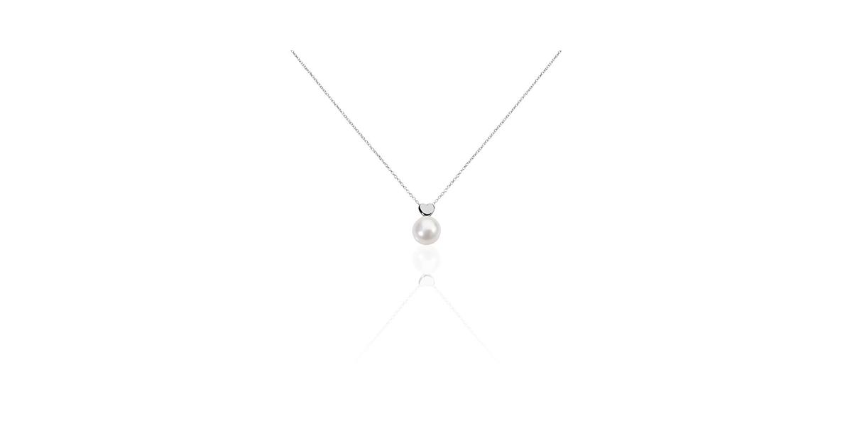 Collier Lorella argent blanc perle de culture