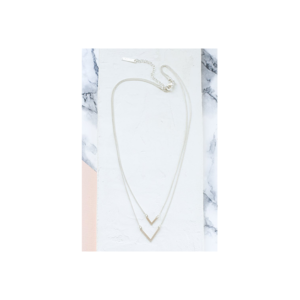 Collier double rangs Balance argenté Shlomit Ofir