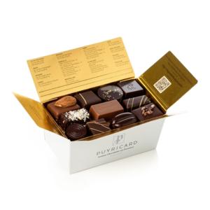 Ballotin de chocolats fins sans alcool, fabrication française