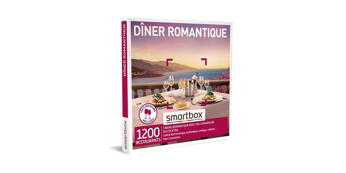 Coffret Cadeau Gastronomie Dîner romantique Smartbox