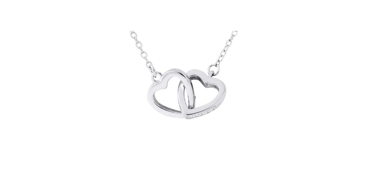 collier en argent cœurs enlacés marque Lova